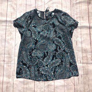 Banana Republic Paisley floral print shirt Large